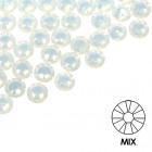 Ozdobné kamienky na nechty - MIX - biele, 100ks