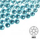 Ozdobné kamienky na nechty - MIX - tyrkysové, 100ks