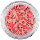 Nepravidelné tvary - béžovočervené, s pásikmi