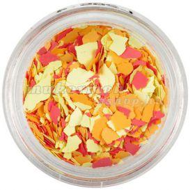Nepravidelné tvary - žlté, oranžové, červené