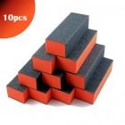 10ks - 3-stranný oranžovo-čierny blok na nechty 100/100