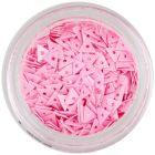 Ružové, ozdobné trojuholníky s dierkou - nail art