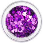 Ozdobné konfety - tmavofialové srdiečka