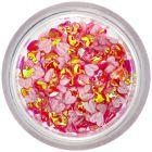 Ozdobné látkové konfety - červené srdiečka