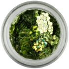 Nail art kvietok - olivovozelený, hologram
