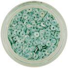 Ozdoby na nechty - mentolové flitre CD so zelenými pásikmi