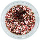 Flitre CD - strieborné s červenými pásikmi