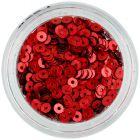 Ozdoby na nechty - tmavočervené flitre CD