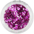 Strieborné nail art flitre CD s ružovými pásikmi
