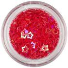 Ozdobné konfety - červené hviezdy