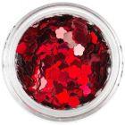 Ozdobné konfety - ohnivočervené kvety