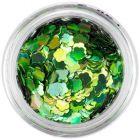 Ozdobný kvet - zelený, hologram