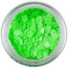 Ozdobné konfety - neónovo zelené kvety