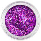 1mm ozdobné šesťhrany - holografické, fialové