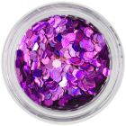 Konfety - šesťhrany holografické, fialové