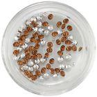 Kamienky diamanty - hnedo-oranžové