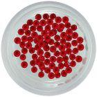 Červené ozdoby na nechty, 1,5mm - guľaté kamienky