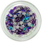 Tmavofialové opálové ozdoby na nechty - látkové hviezdičky