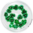 Dekorácia na nechty - zelené keramické ruže