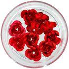 Keramické nechtové ozdoby - červené ruže, 10ks