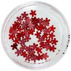 Červené perleťové kvietky