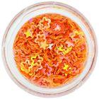 Obrysové kvietky na nechty, sýto oranžové