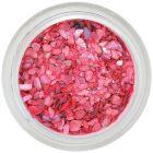 Dekorácia na nechty koralovočervenej farby - nepravidelné úlomky