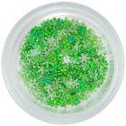 Látkové kvietky na zdobenie nechtov - zelené, malé