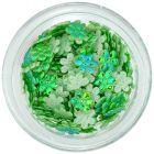 Kvietky látkové - perleťovo zelené