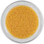 Nail art ozdoba - žlté miniatúrne perly