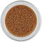 Svetlohnedé perly na nechty, 0,5mm