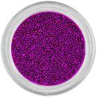 Ozdoby na nechty - 0,5mm perly, tmavofialové