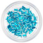 Tyrkysovo modré kamienky, obdĺžniky