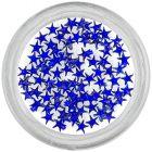 Kráľovsky modré kamienky na nechty - hviezdičky
