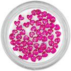 Ružové kamienky na zdobenie nechtov - srdiečka