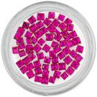 Ružové kamienky na zdobenie nechtov - štvorčeky