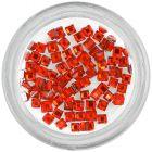 Kamienky na nechty - štvorce, červené