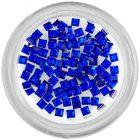 Kamienky na nechty - štvorce, kráľovsky modré
