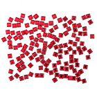 Červené ozdoby na nechty - kamienky, štvorčeky 140ks