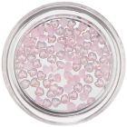 Nechtové ozdoby s perleťou - jemne ružové srdiečka