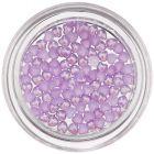 Perleťové srdiečka na nechty - fialové