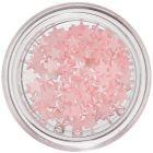 Nail art jemne ružové ozdoby - hviezdičky, perleť