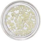 Svetložlté mesiačiky na zdobenie nechtov, perleť
