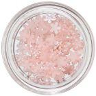 Perleťové ozdoby v tvare kvietkov - jemne ružové
