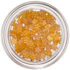 Malé kvietky na zdobenie nechtov - oranžovo-žlté, perleť