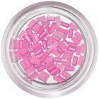 Perleťové obdĺžniky na nechty - ružové
