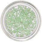 Perleťové ozdoby v tvare zahnutej slzičky - svetlozelené