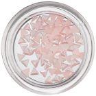 Nechtové ozdoby s perleťou - jemne ružové trojuholníky