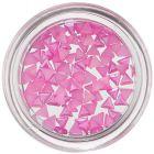 Perleťové ozdoby v tvare trojuholníka - ružové