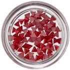 Trojuholníky na zdobenie nechtov - červené, perleť